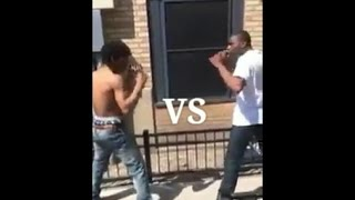INSANE HOOD FIGHT with street fighter style sound effects