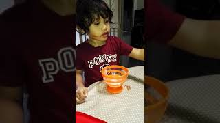 Zhariff Ziyyad eating icecream comotnye