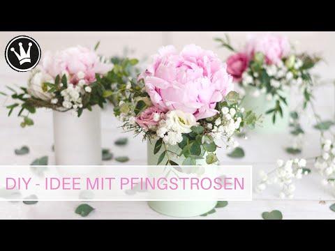 DIY – IDEE mit PFINGSTROSEN | Tischdeko schnell und easy | Sommerdeko mit Konservendosen | Upcycling