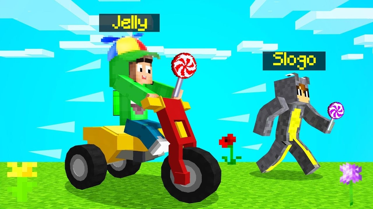 Jelly - PLAYING MINECRAFT As A KID! (Going To School)