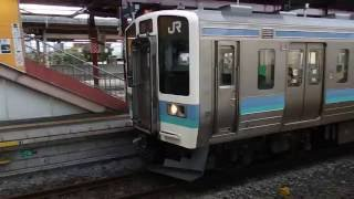 "211系快速みすず 塩尻駅発車 Shinonoi Line and Iida Line Lapid Train ""MISUZU"""