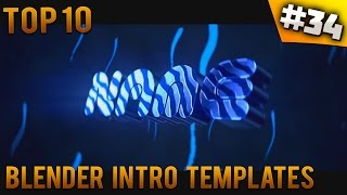 TOP 10 Blender intro templates #34 (Free download)