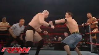 John Cena & Randy Orton battle the entire Raw roster: Raw, March 17, 2008 width=