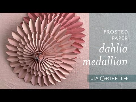 Frosted Paper Dahlia Medallion