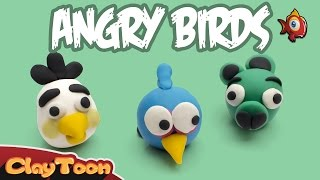 Angry birds 2: The blues, Matilda and Pig, Polymer clay tutorial. | شخصيات الطيور الغاضبة
