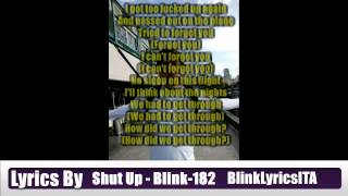 blink-182 - Shut Up Lyrics