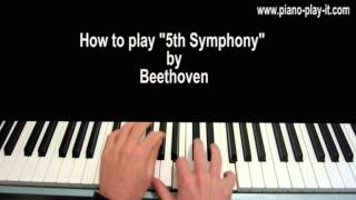 Beethoven Symphony No. 5 in C Minor, Op. 67 Piano Tutorial