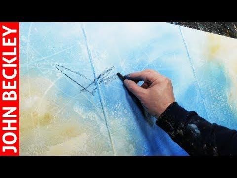 Peinture Abstraite - Démonstration Art Abstrait À l'Acrylique  | Inforo