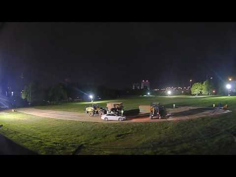 Temporary road installation : Timelapse