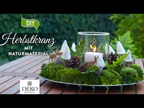 DIY: wunderschöner Herbstkranz mit Naturmaterial [How to] Deko Kitchen