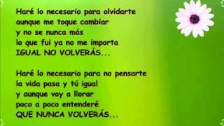 Felipe Santos   Olvidarte Feat  Cali Y El Dandee) (Con Letra)