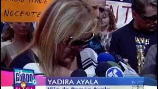Hija de Ramón Ayala le envió un mensaje