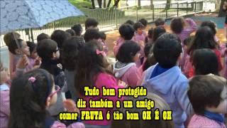 Hino da Fruta 2014/2015 - Sala Verde/Azul/Vermelha -  JI CCD de Cascais - Lisboa