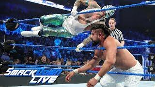 "Rey Mysterio & Mustafa Ali vs. Samoa Joe & Andrade ""Cien"" Almas: SmackDown LIVE, Jan. 8, 2019"