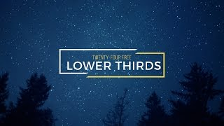 24 Free Lower Thirds for After Effects | RocketStock.com
