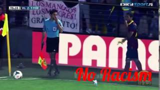 Dani Alves EATS BANANA thrown from public (Villareal vs Barcelona)LL 2014 No racism
