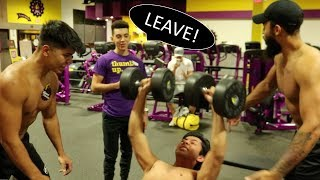 Getting Kicked Out Of Planet Fitness (Shirtless, Screaming, Slamming Weights)