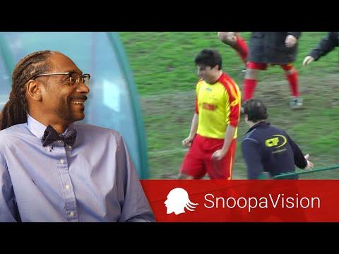 Soccer Head Butt Through Plastic in SnoopaVision