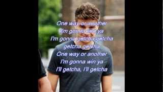 One Way Or Another with Lyrics video by:One Direction