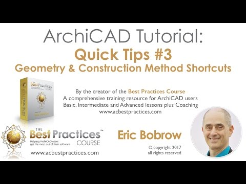 ARCHICAD QuickTips Tutorial #3 - Geometry Construction Shortcuts