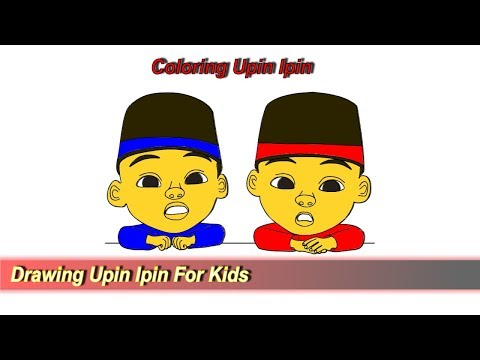 Drawing And Coloring Upin Ipin For Kids Tutorial