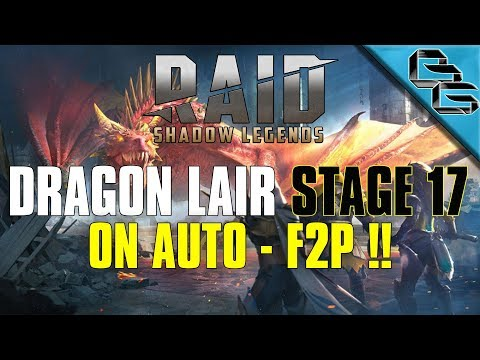 RAID: Shadow Legends | Dragon's Lair Stage 17 on Auto!! | + Builds overview | F2P