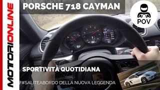 Porsche 718 Cayman   POV Test Drive #SaliteaBordo