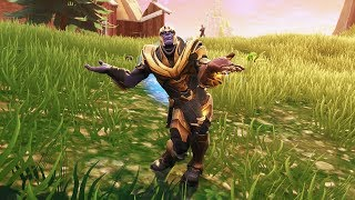 NEW Thanos in Fortnite Showcased with 20+ Dances/ Emotes! (Orange Justice, Squat Kick, Hype)