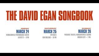 """David Egan Songbook"" Live Performance DATES **"