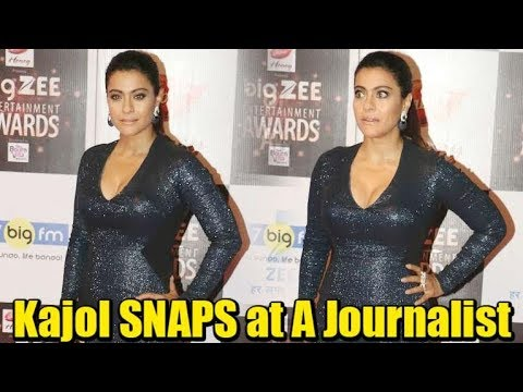 Kajol SNAPS at A Journalist | Funny Reactions Collection