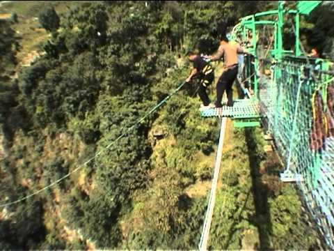 world highest canyon swing in nepal