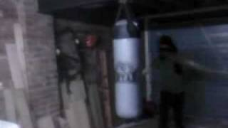 never back down kick in my garage