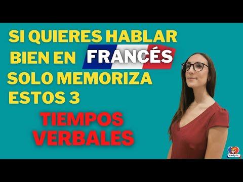 👉SI QUIERES HABLAR BIEN FRANCES, SOLO MEMORIZA ESTOS 3 TIEMPOS VERBALES!🔵⚪🔴  Verbos en Francés