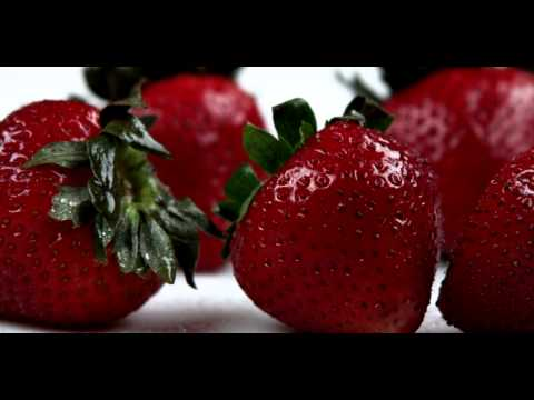 Royalty Free Stock Footage of Close up slow panorama of strawberries.