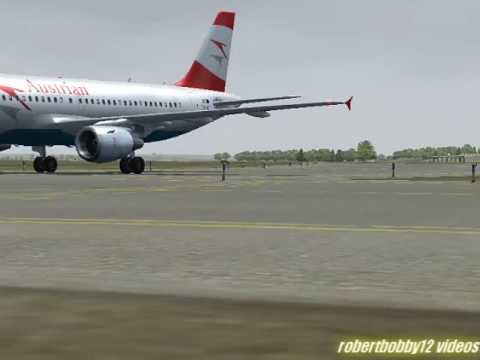 Austrian A319 Vienna Landing