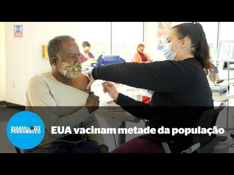 Metade da população adulta nos EUA já tomou ao menos uma dose de vacina contra Covid