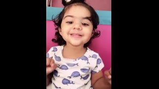 1 year old baby Miraya singing love me like you do musical.ly