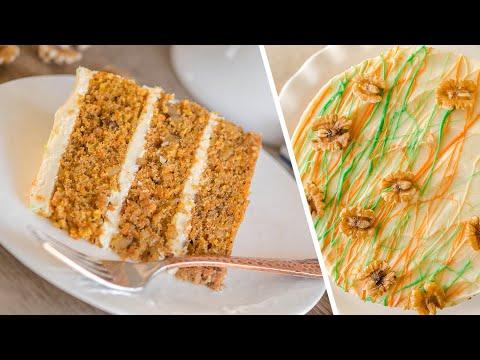 МОРКОВНЫЙ ТОРТ 🥕 CARROT CAKE 🥕 простой рецепт очень вкусного торта / нежные коржи + крем-чиз