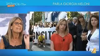 Giorgia Meloni in collegamento con La7 da Bibbiano: I BAMBINI NON SI TOCCANO!