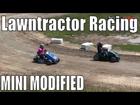 Mini Modified Class Lawntractor Racing At Western Ontario Outlaws July 7 2019 - Round 2