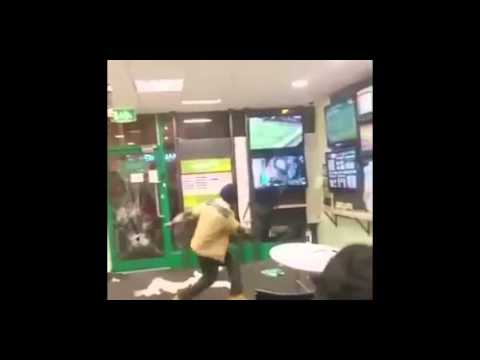 Man goes bonkers in betting shop