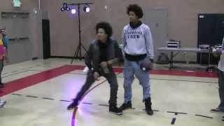 Les Twins Larry Killing Beat While Eating