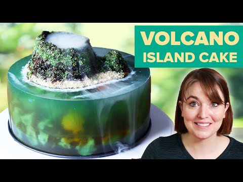 I Tried To Make A Volcano Jelly Island Cake ? Tasty