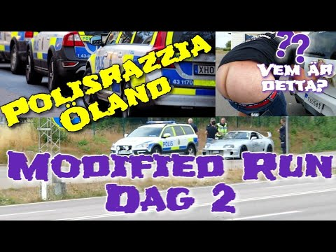 Modified Run 2k18 VLOGG DAG 2 - Polisrazzia på ölandsbron!! - ROS
