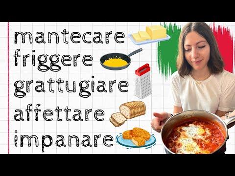 Tutti i VERBI per CUCINARE in ITALIANO: Lezione di LESSICO ITALIANO per Stranieri (livello avanzato)