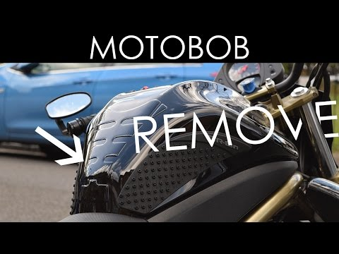 How To Remove A Motorcycle Tank Pad / Protector With Dental Floss