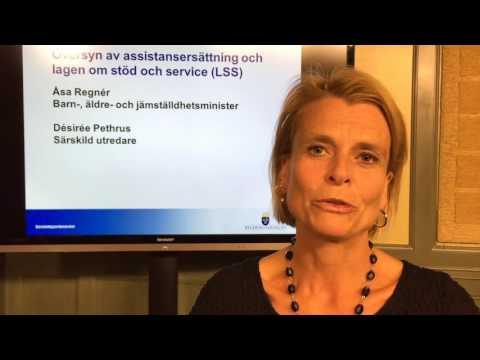 Intervju med Åsa Regnér och Désirée Pethrus när nya LSS-utredningen presenterades