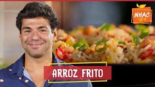 Arroz frito com amendoim, manga e ESPETINHOS DE PEIXE   Felipe Bronze   Perto do Fogo