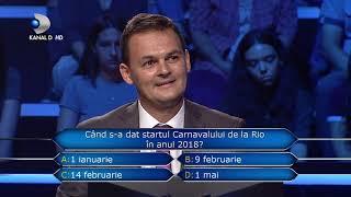 Vrei sa fii milionar? (04.12.2018) - Se va lua dupa sotie sau va alege un raspuns?