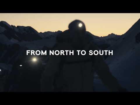 North to south Alpine crossing on touring skis